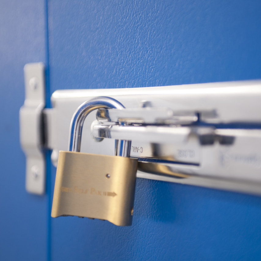 Self Storage security padlock