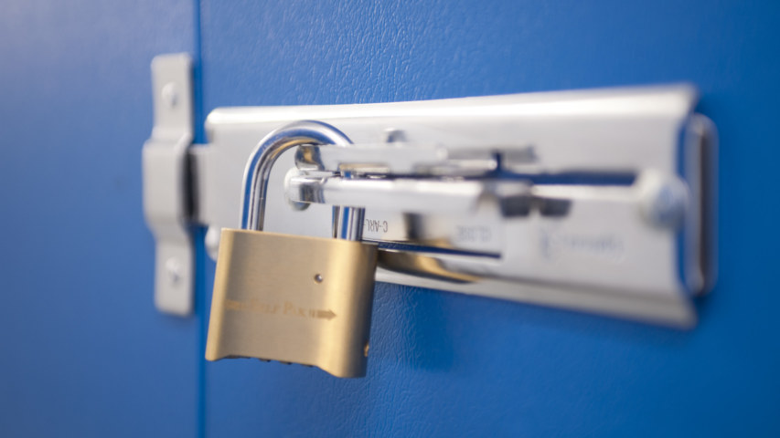 Self Storage security padlock