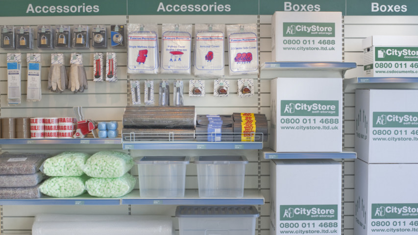 Self storage packing accessories